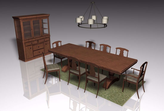 Picture of Dining Room Furniture Models FBX Format