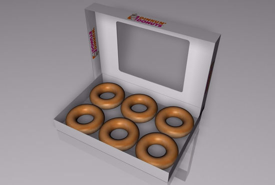 Picture of Donuts and Box Food Model FBX Format