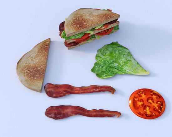 Picture of Double Decker BLT Sandwich Model Poser Format