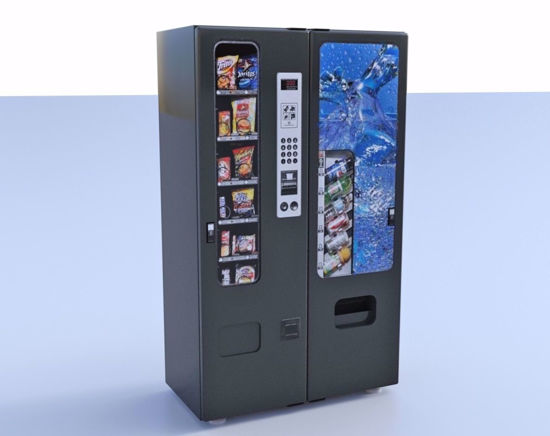 Picture of Double Vending Machine Model FBX Format