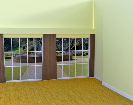 Picture of Double Window Wall Scene Poser Format
