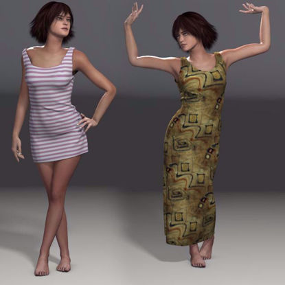Picture of Dynamic Dress Set 1 for Smith Micro Pauline Poser Format