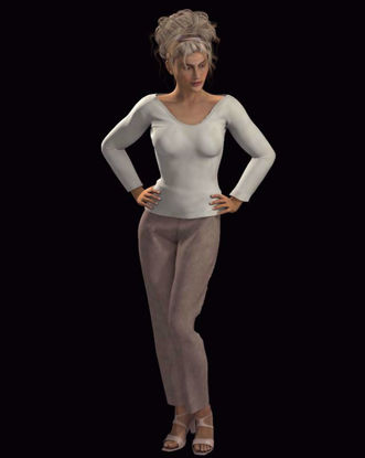 Picture of Dynamic Sweater and Slacks Outfit for Hivewire3D Dawn