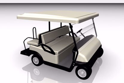 Picture of Electric Golf Cart Model FBX Format