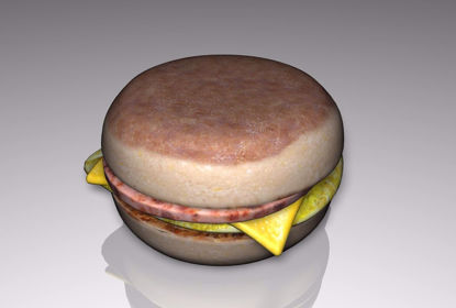 Picture of English Muffin Sandwich Food Model FBX Format