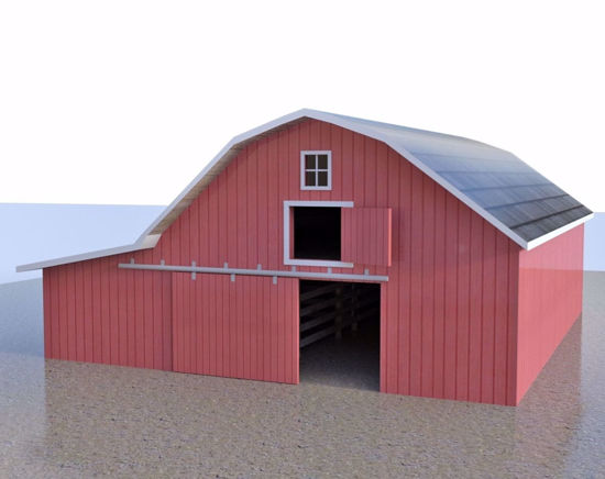 Picture of Farm Barn Building Model FBX Format