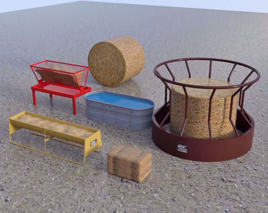 Picture of Farm Equipment Models Set 1 Poser Format