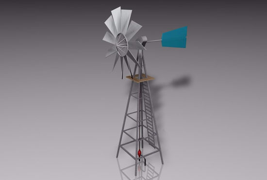 Picture of Farm Windmill Model FBX Format