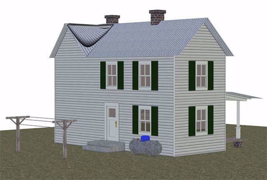 Picture of Farmhouse and Yard Model Poser Format