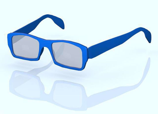 Picture of Fashion Glasses Model Set 1 for All Poser Figures Poser Format