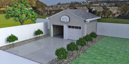 Picture of Garage and Driveway Environment