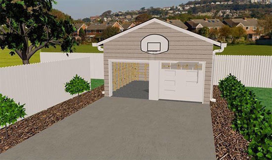 Picture of Garage and Yard Environment FBX Format