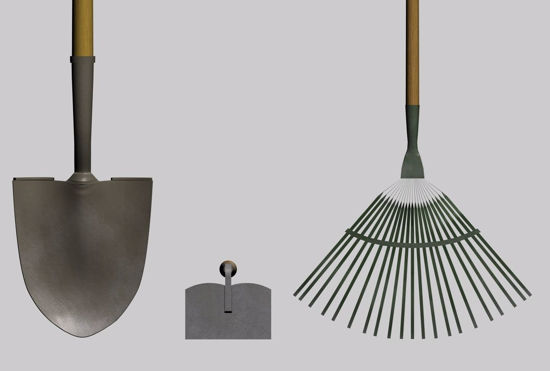 Picture of Garden Tool Models FBX Format