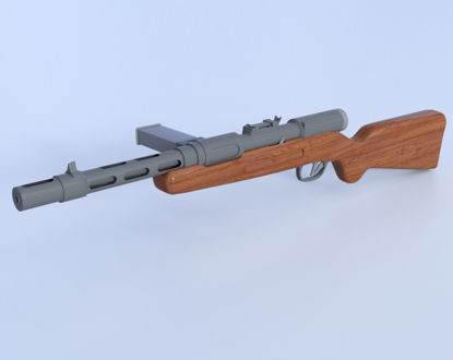 Picture of German Bergman MP35 Submachine Gun Model  Poser Format