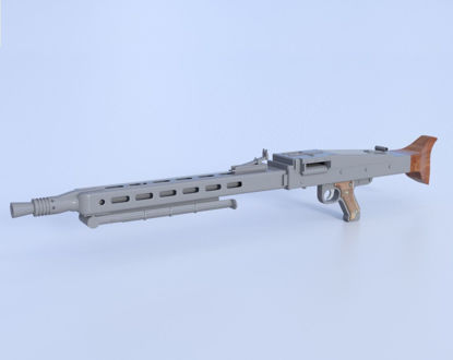 Picture of German MG 42 Mauser Machine Gun Model  Poser Format