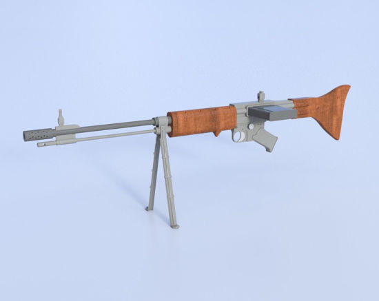 Picture of German Paratrooper Rifle Model 42 Poser Format