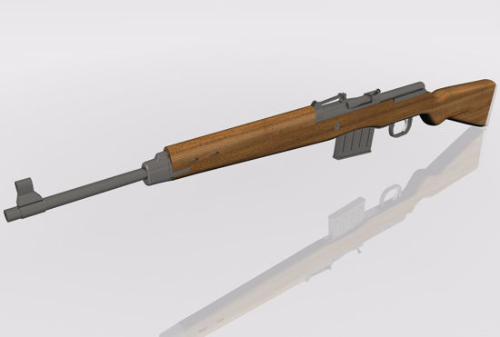 Picture of Gewehr 43 Rifle Weapon Model FBX Format
