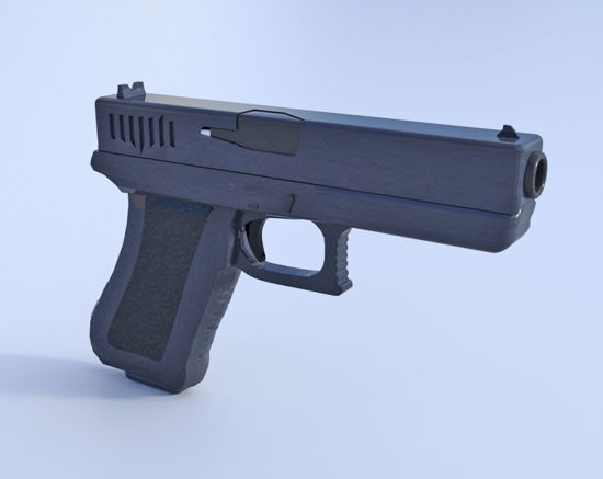 Picture of Glock 40 Caliber Pistol Model Poser Format