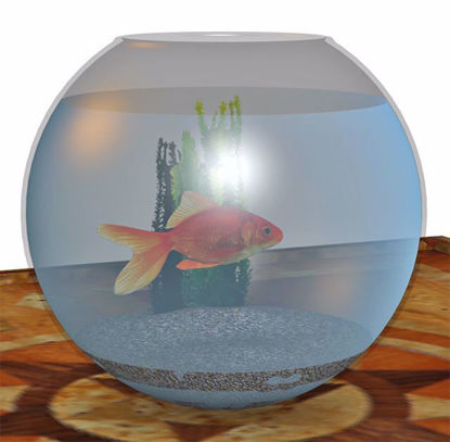 Picture of Gold Fish and Bowl Models Poser Format