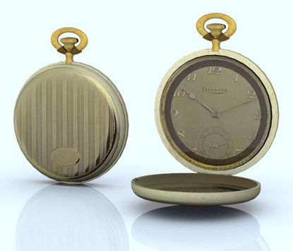 Picture of Gold Pocket Watch Model Poser Format
