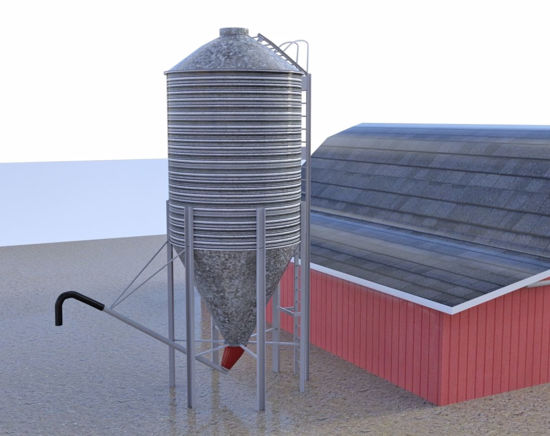 Picture of Grain Storage Silo Model FBX Format