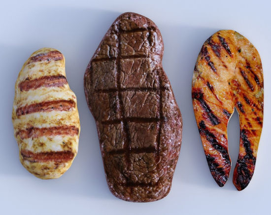 Picture of Grilled Meat Models Set 1 Poser Format