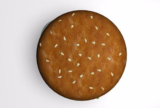 Picture of Hamburger Food Model FBX Format
