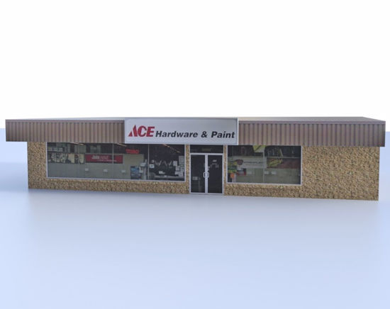 Picture of Hardware Store Building Model FBX Format