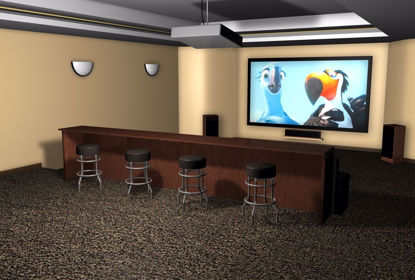 Picture of Home Media Room Environment FBX Format