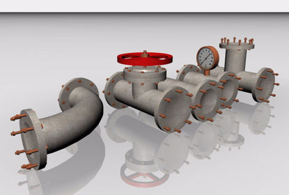 Picture of Industrial Pipe Mechanical Models FBX Format