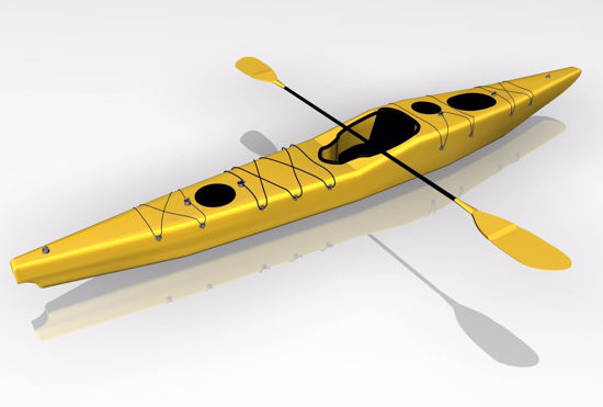 Picture of Kayak Boat Model FBX Format