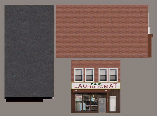 Picture of Laundry Mat Building Model FBX Format