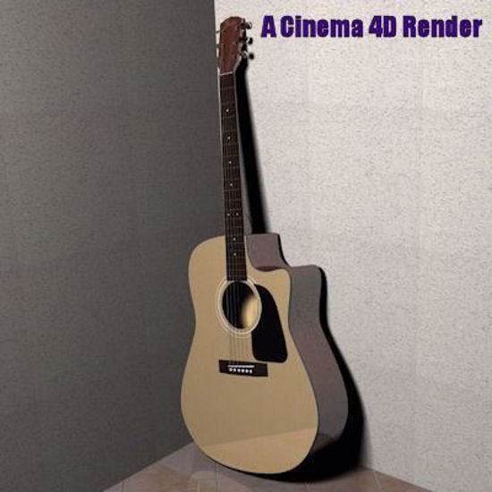 Picture of Left-Handed Dreadnought Guitar Model Poser Format