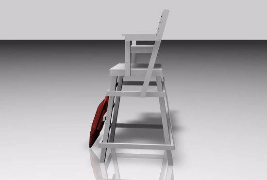 Picture of Life Guard Chair Furniture Model FBX Format