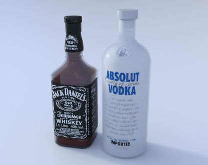 Picture of Liquor Bottle Models Poser Format