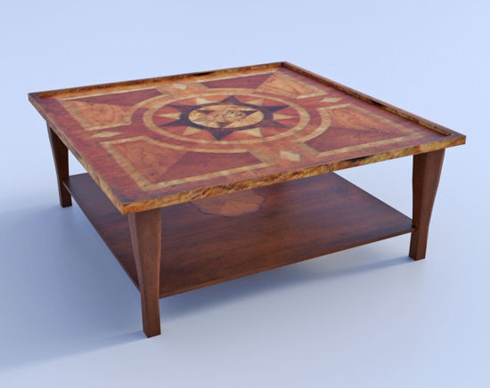 Picture of Low Den Table Furniture Model Poser Format