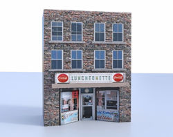 Luncheonette Building Model FBX Format