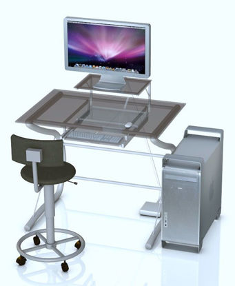 Picture of Mac G5 Pro Style Computer Model Poser Format