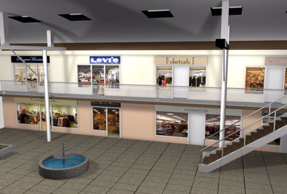 Picture of Mall Main Sections Environment FBX Format