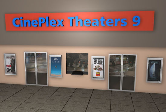 Picture of Mall Movie Theater Environment FBX Format