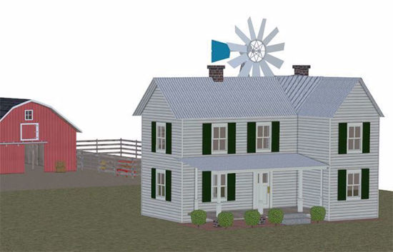 Picture of Mega Farm Environment with Farmhouse and Barn Poser Format