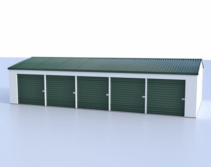 Picture of Mini Storage Building Model FBX Format