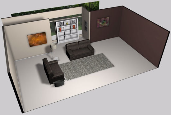 Picture of Modern Living Room Environment Poser Format