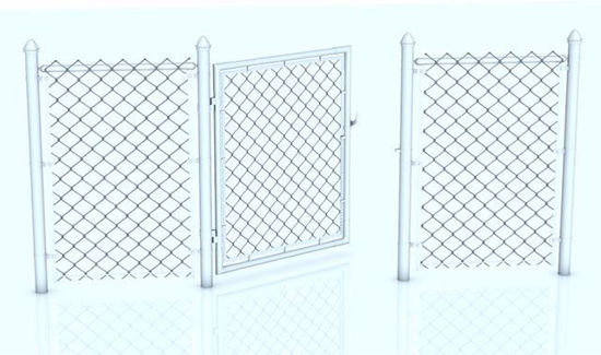 Picture of Modular Chain Link Fence Model Set Poser Format