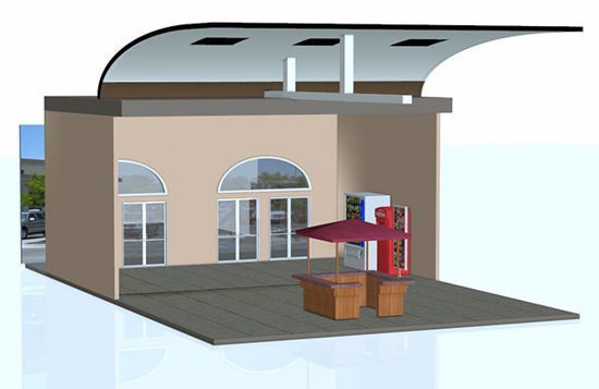 Picture of Modular Mall Entrance Scene Poser Format