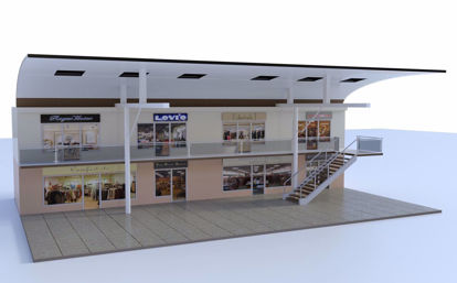 Picture of Modular Mall Main Section Scene Poser Format