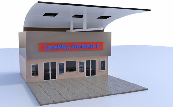 Picture of Modular Mall Movie Theater Scene Poser Format