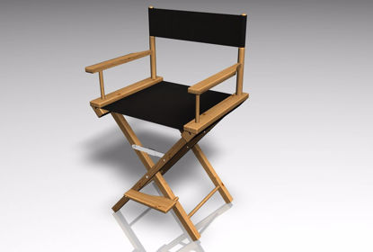 Picture of Movie Directors Chair Furniture Model FBX Format