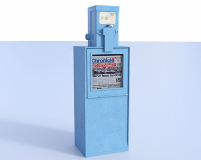 Picture of Newspaper Dispenser Model 2016 Poser Format