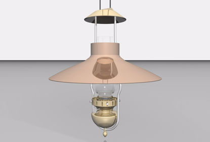 Picture of Oil Lantern Ceiling Light Fixture Model FBX Format